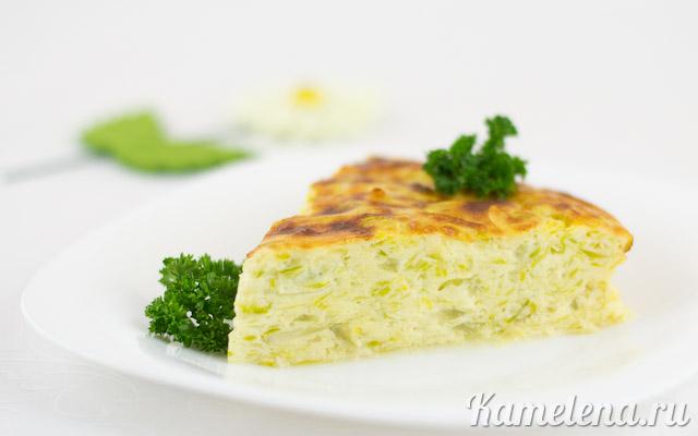 Запеканка из кабачков и плавленого сыра — 11 шаг