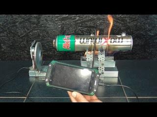 Зарядка телефона от ПАРО -ТУРБИННОГО ГЕНЕРАТОРА