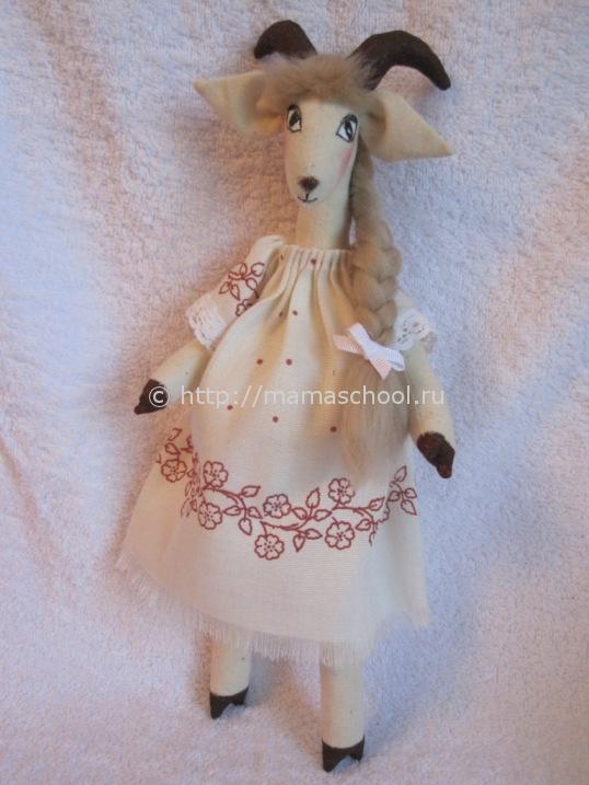 мягкая игрушка коза тильда своими руками