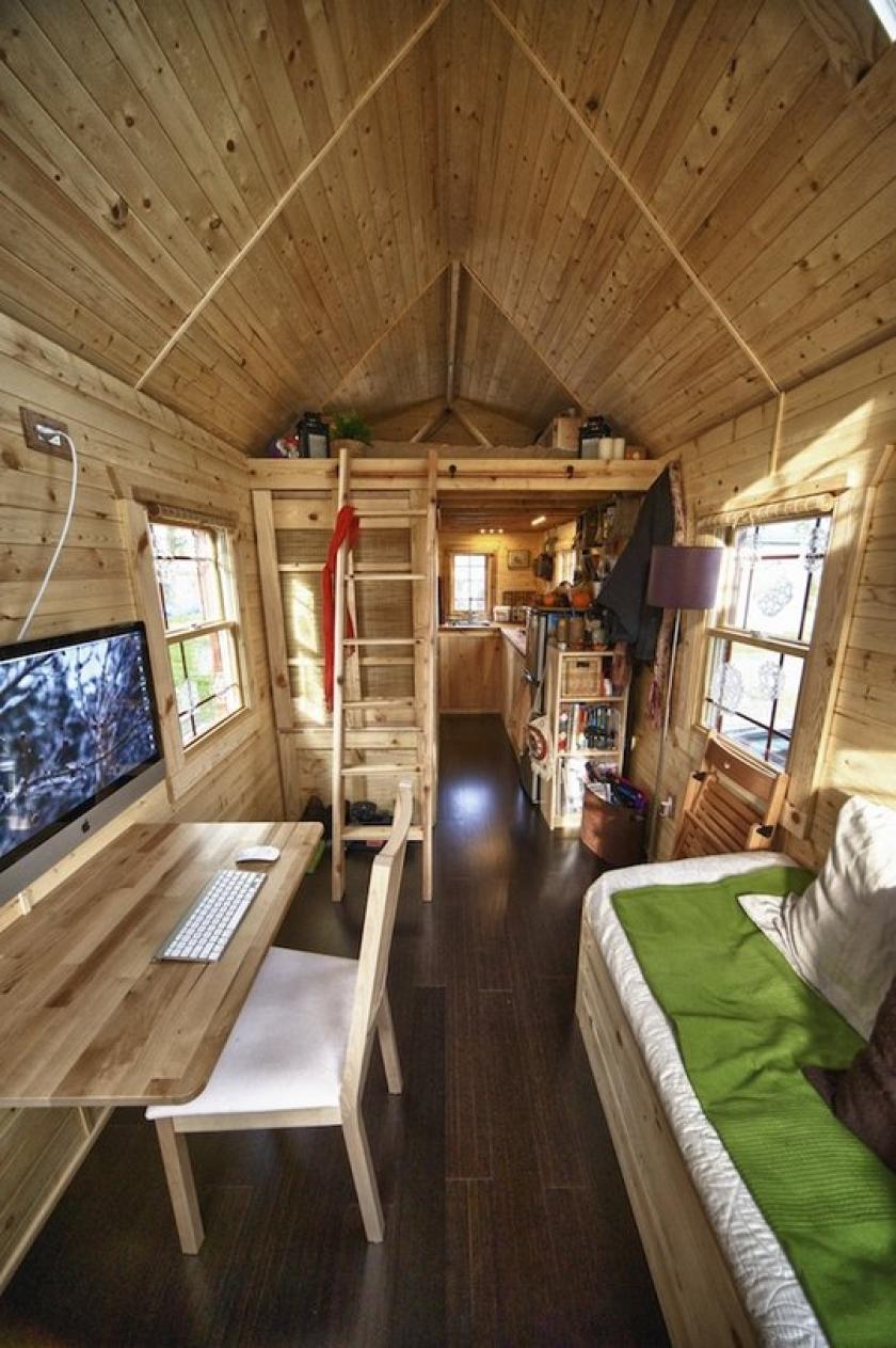 Дом из вагончика интерьер