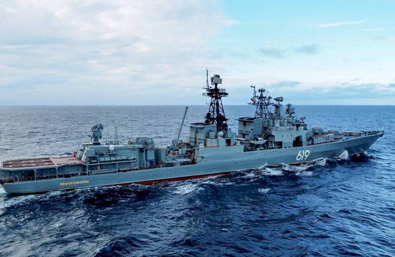 Отряд кораблей СФ прибыл в Дудинку