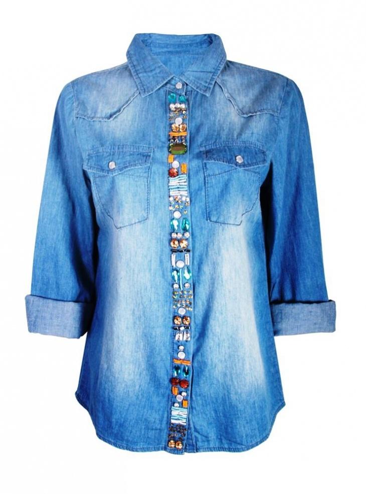 Перешить джинсовую рубашку своими руками 48
