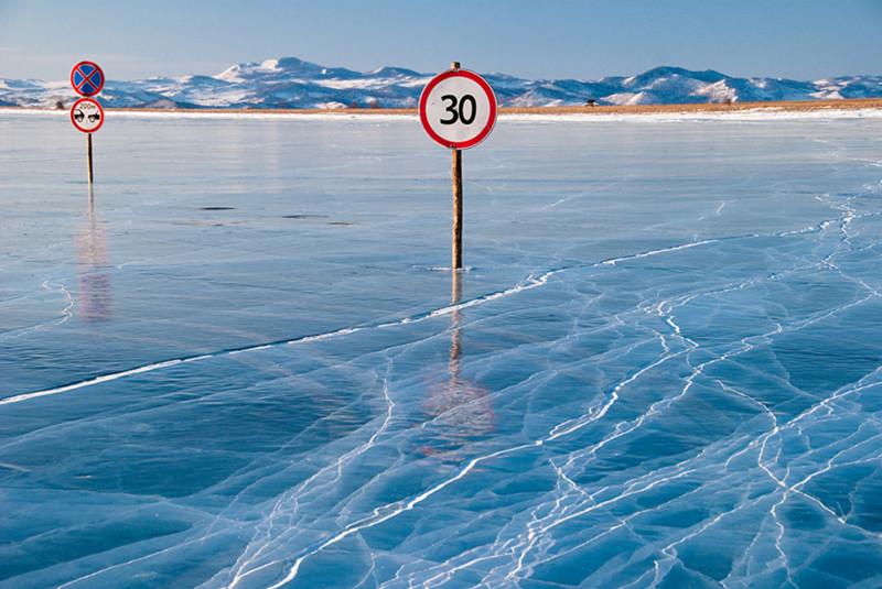 Замерзший Байкал. Фантастика