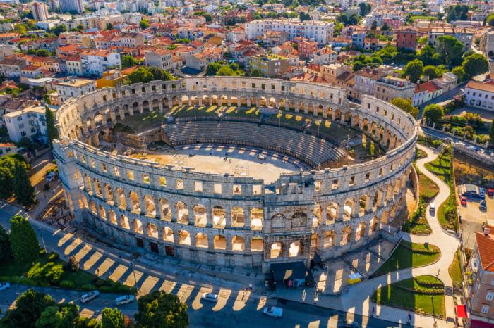 Амфитеатр в Пуле, Хорватия.  Фото: travelhk.com.