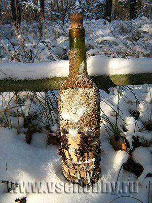 как декорировать бутылки своими руками пряностями и парафином