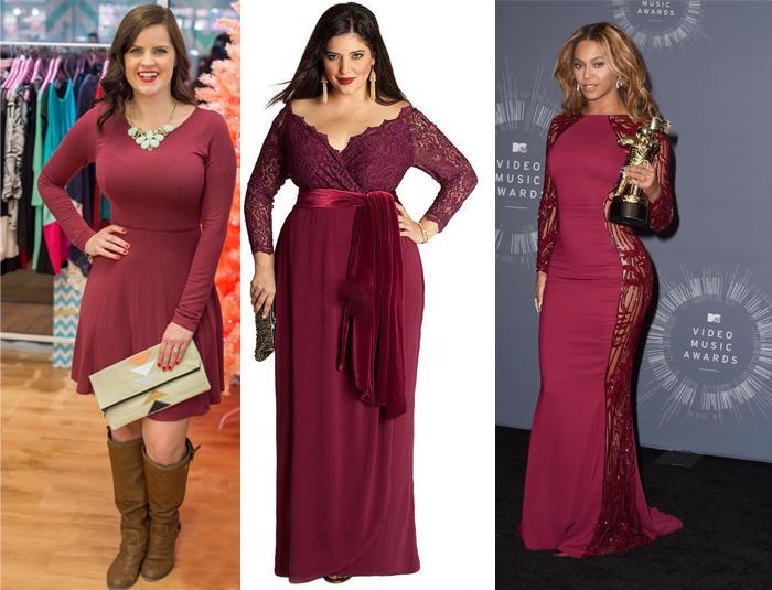 Мода лета 2015: волнующее, опьяняющее платье «Марсала»