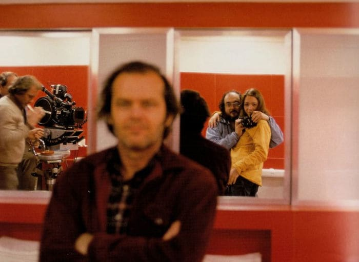 "Stanley Kubrick On The Set Of ""The Shining"" With His Daughter. Apparently, Jack Nicholson Thought Kubrick Was Taking A Photo Of Him (1980s)"