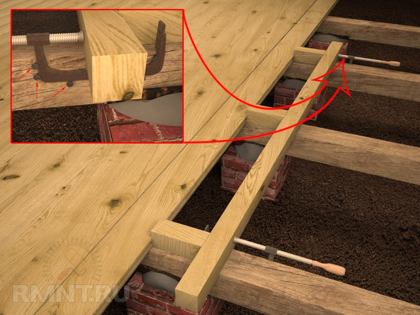 Настил ламината своими руками на деревянный пол на даче 27