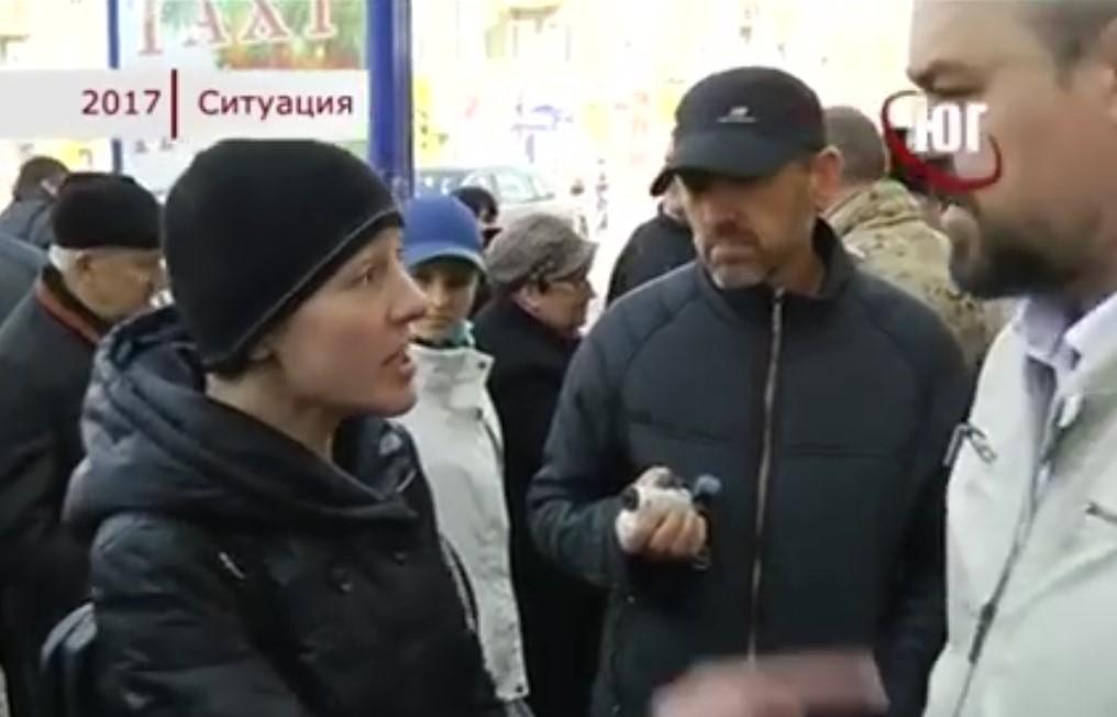 """Ветераны АТО  устроили беспредел у здания """"Сбербанка"""". Но народ не понял эту тупость (видео)"""