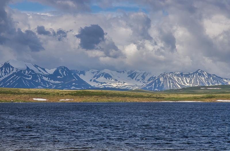 Озеро Кальджин-Коль и хребет Южный Алтай алтай, путешествия, россия, укок, фото