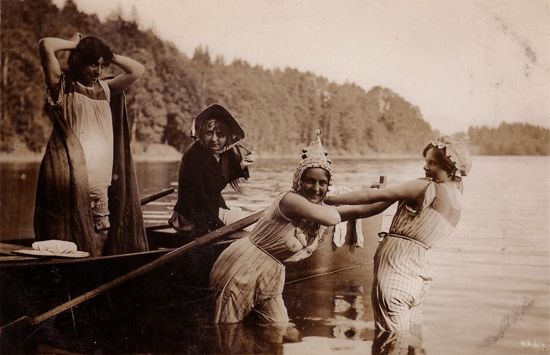 5. Купание, ориентировочно 1910-1920 женщины из прошлого, история, фото