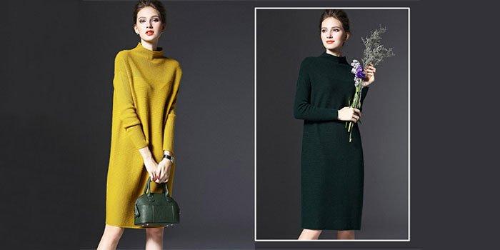 С чем носить вязаное платье: стильные варианты