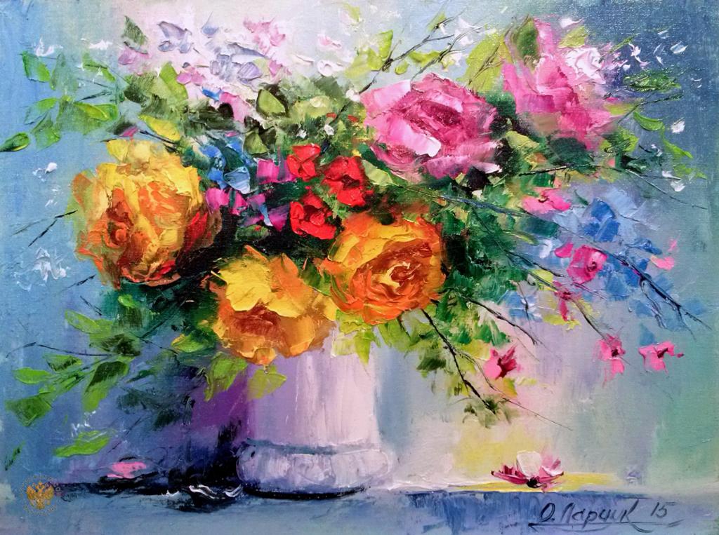 Цветы в живописи. Подборка.