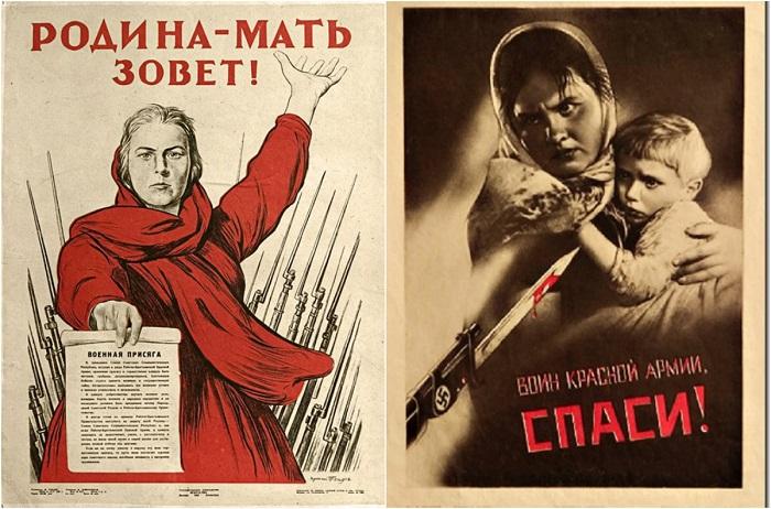 20 военных агитационных плакатов Великой Отечественной войны