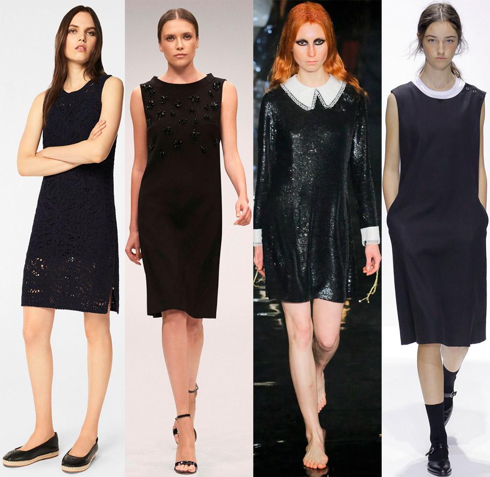 Модные черные платья 2018 года