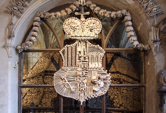 Герб семьи Шварценберг из костей.