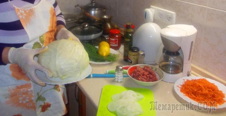 Капуста приготовленная с овощами в духовке. Вкусно и полезно!!! Попробуйте