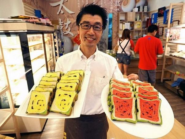 Удивительный тайваньский арбузный хлеб(7 фото)