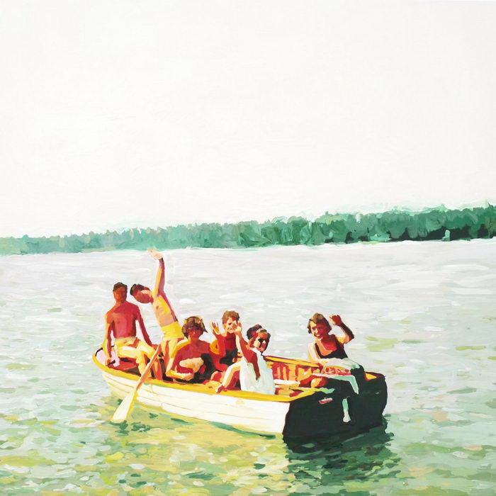 Ностальгия по детству в картинах Lisa Golightly. Лето, озеро, друзья, свобода