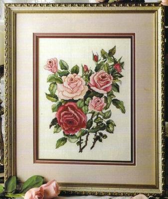 Вышивка крестом «Розы»