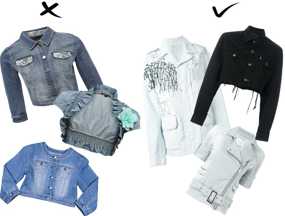 Какую джинсовую куртку можно…