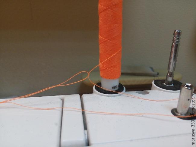 Отделочная строчка в три нитки с одной катушки. МК