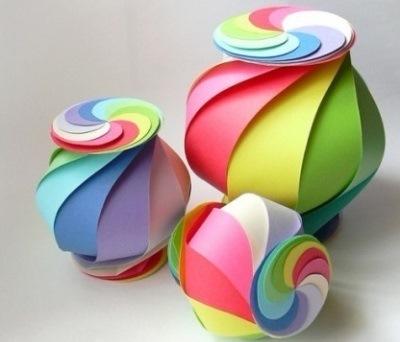 Spiralnaya korobochka origami ���������� ��������� ������� Ñ