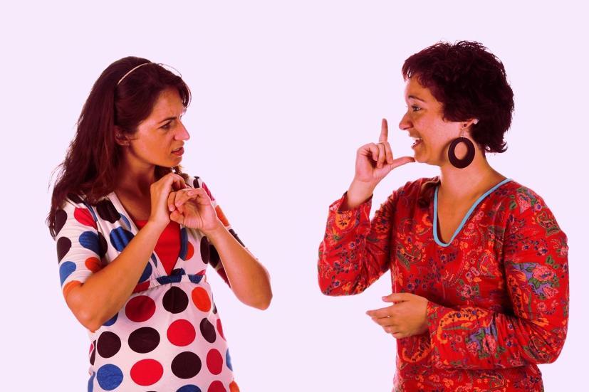 Глухонемые собеседницы