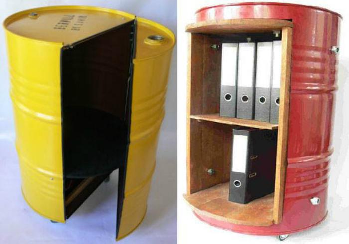 Инструментальный шкаф из бочки своими руками