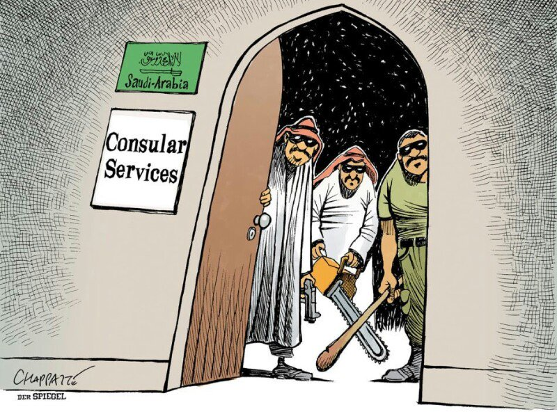 Убийство Хашогги в зарубежной карикатуре