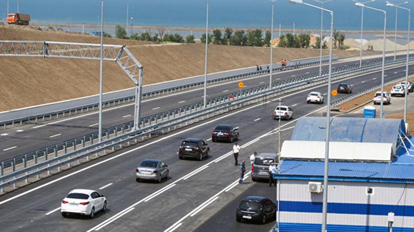 ГИБДД зафиксировала первые случаи нарушений на Крымском мосту