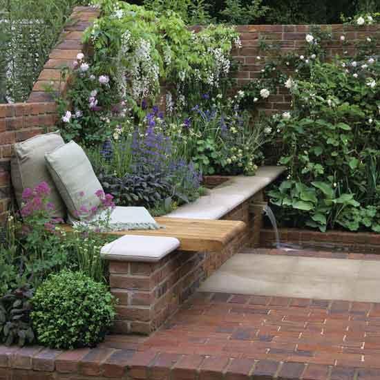 Дизайн уголка в саду