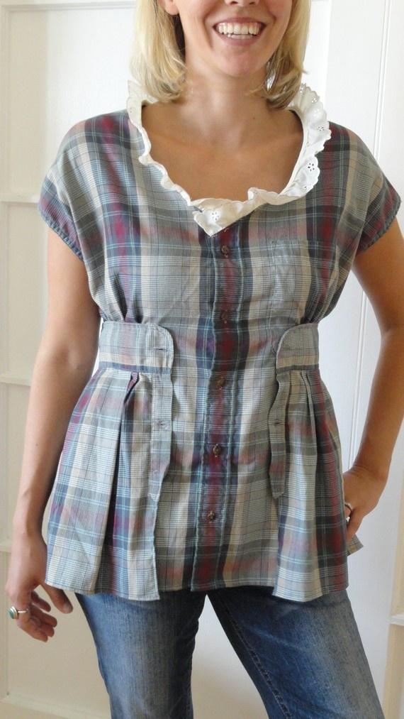 Идеи переделок старых рубашек