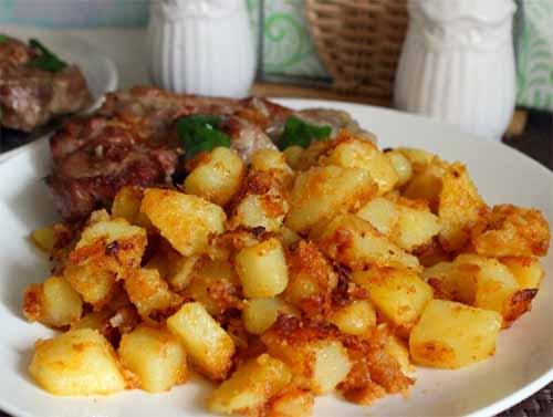 Картофельный гарнир к мясу