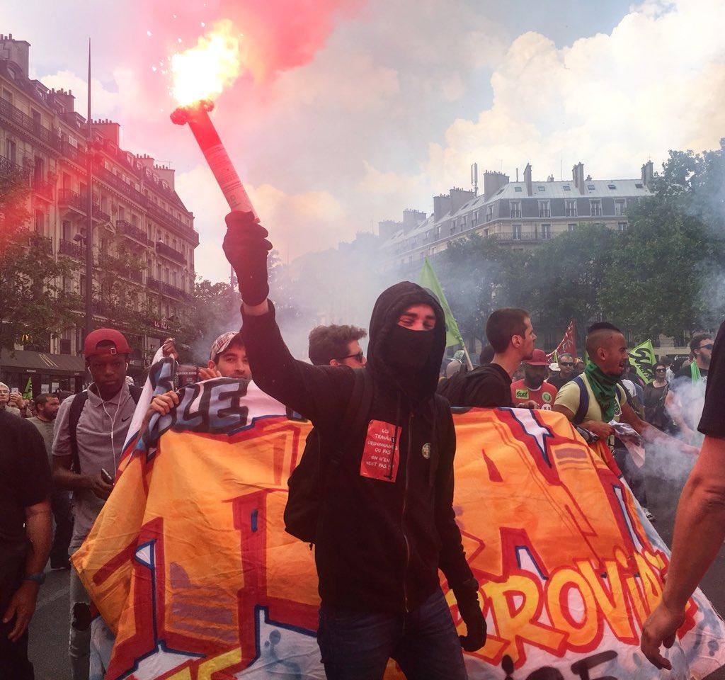 Погромы в районе Бастилии