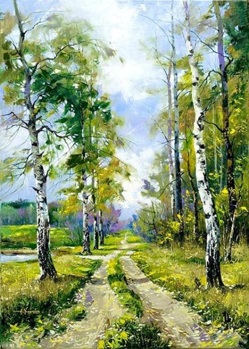 Пейзажи белорусского художника Александра Ходюкова