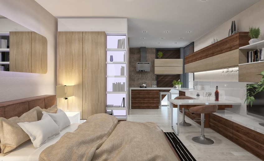 Квартира-студия в 24 м² для молодой семьи