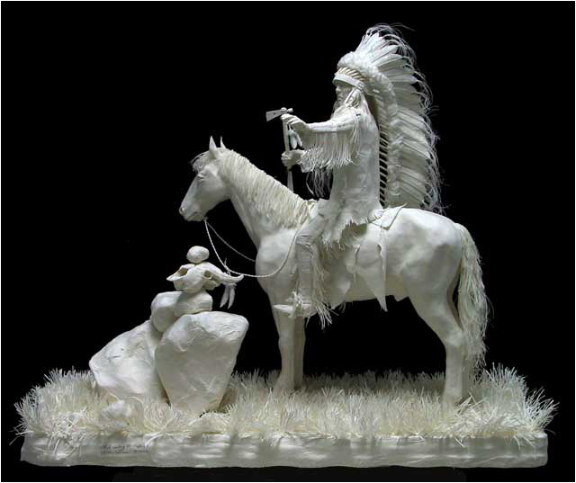 allen eckman art 15 Невероятные скульптуры, вылитые из бумаги