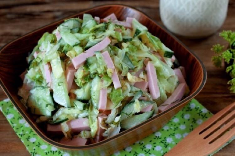 Отменный салатик с капустой, колбасой и вкуснейшей заправкой