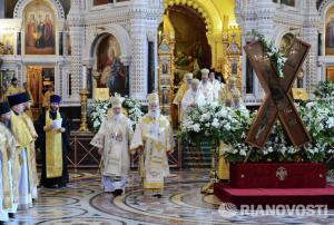 Божественная литургия в Храме Христа Спасителя 24.07.2013