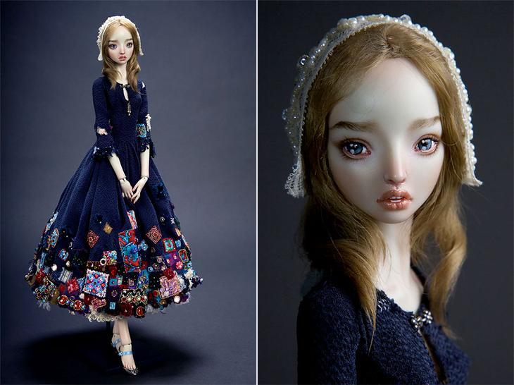 Заколдованные и пугающе куклы Марины Бычковой