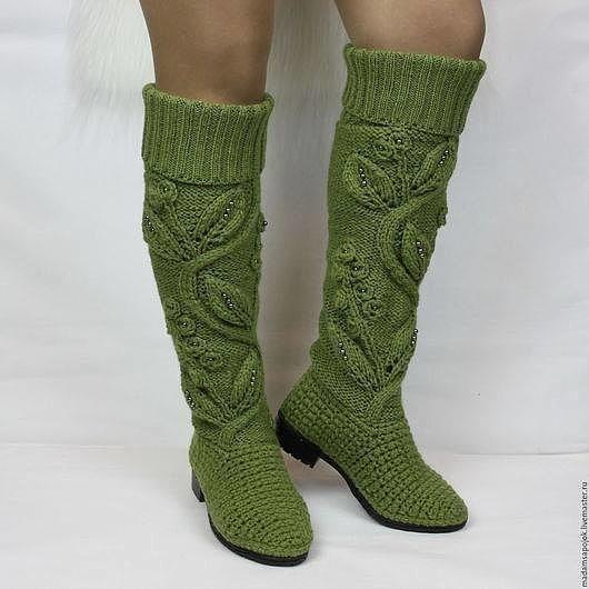 Вязанная обувь... вдохновляемся)))