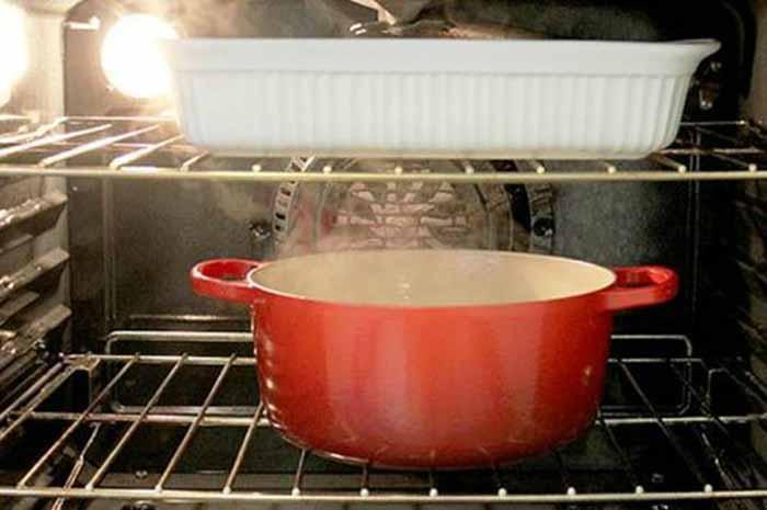 Чистим духовку внутри