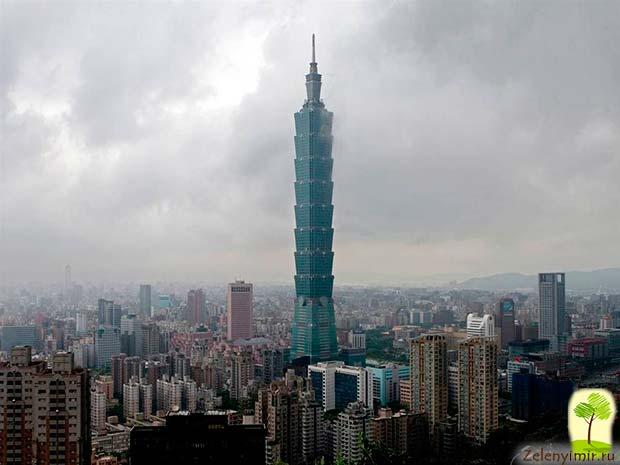 Гигантский небоскреб Тайбэй 101 в Тайване - 9