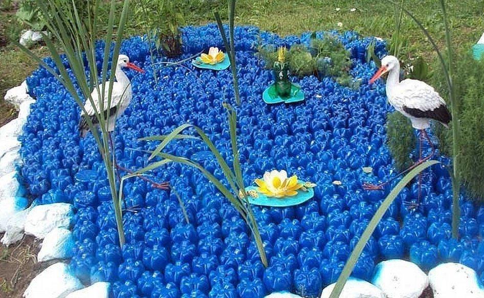 Поделки своими руками из пластмассовых бутылок для сада