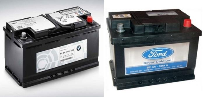 «Фирменные» аккумуляторы, часть цены которого приходится на логотип.