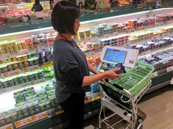 Интерактивные тележки в супермаркетах Фото Sugoi