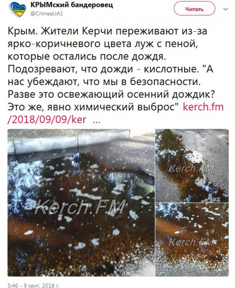 Украинцы клюнули на лужи
