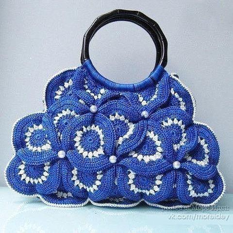 Симпатичные вязаные сумочки …