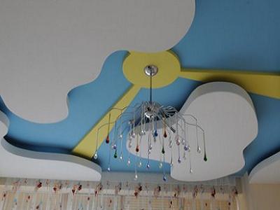 Потолки из  гипсокартона  в  детской.